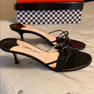 Jimmy Choi black leather sandal